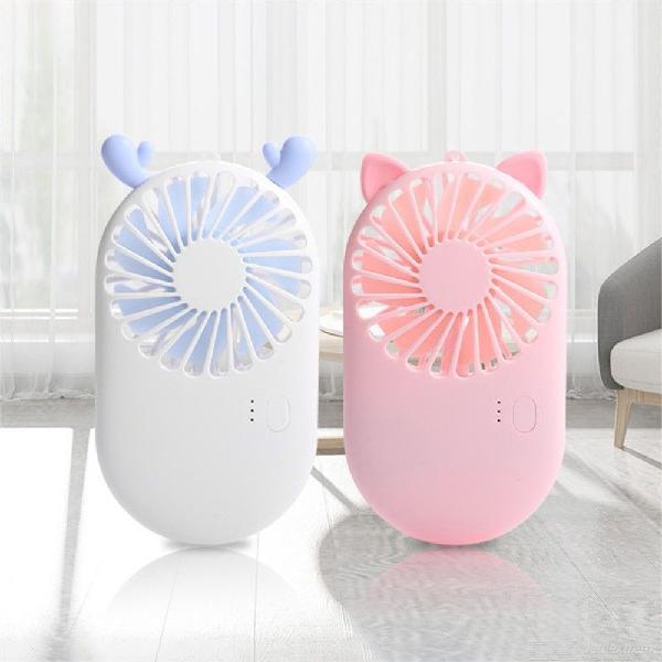 Cute portable mini fan handheld usb rechargeable desk fans