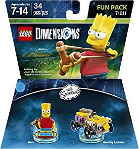Lego dimensions, simpsons bart fun pack by warner home video