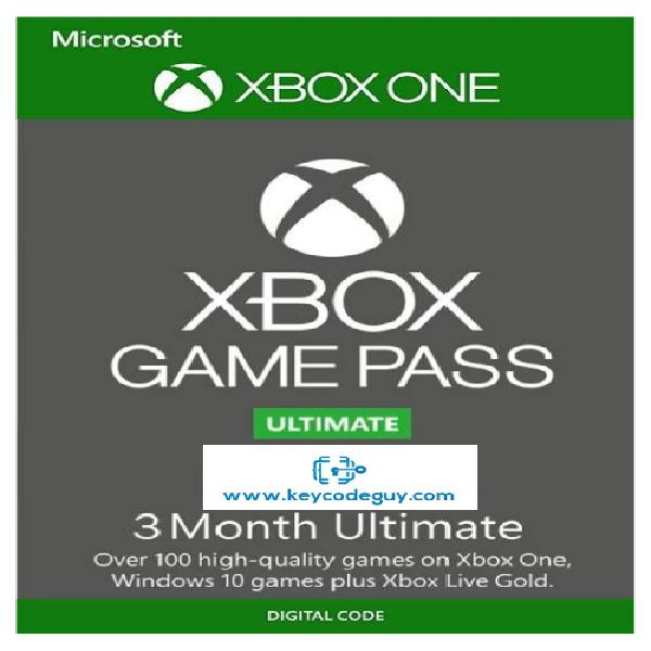 Xbox game pass ultimate - 3 months - xbox one / pc (fast