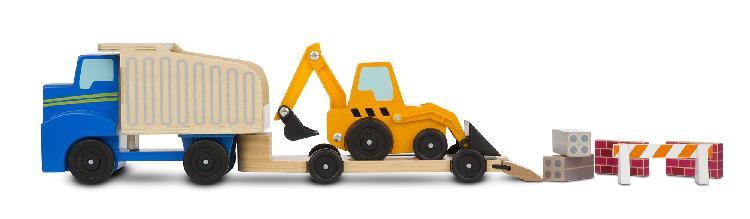 Melissa & doug 000772027571 dump truck & loader wooden play