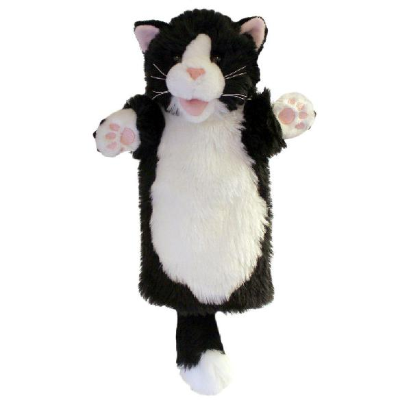The puppet company long-sleeves black & white cat hand