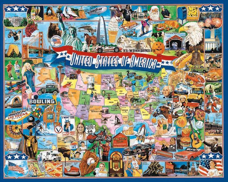 White mountain puzzles united states of america - 1000 piece
