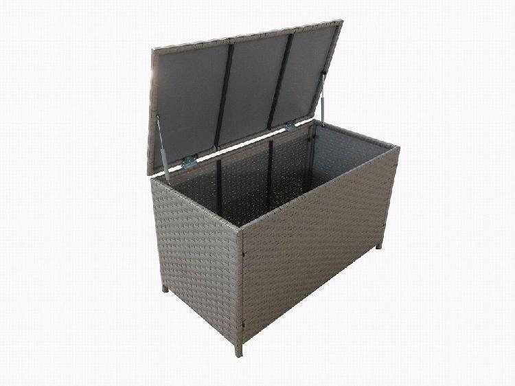 Fine living - rattan storage container - dark grey