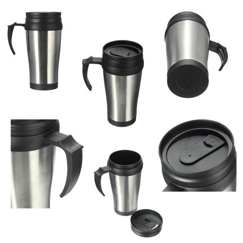 Stainless steel vacuum flask mug (400ml)