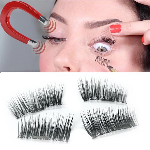 Magnetic eyelashes reusable ultra thin black thicker 3d