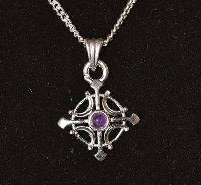 Cross with stone pendant