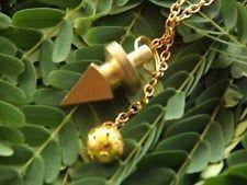 Gold plated fancy design cone pendulum