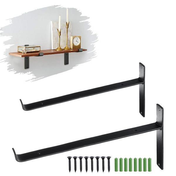 20/25/30cm rustic wall shelf brackets heavy duty industrial