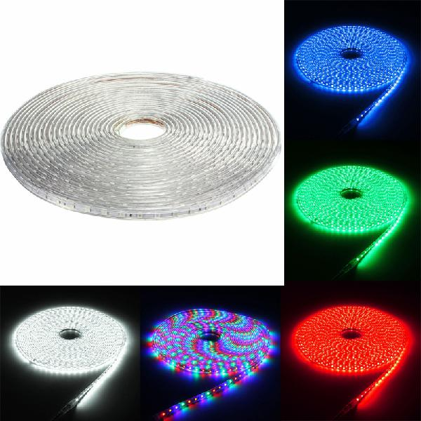 220v 15m 5050 led smd outdoor waterproof flexible tape rope
