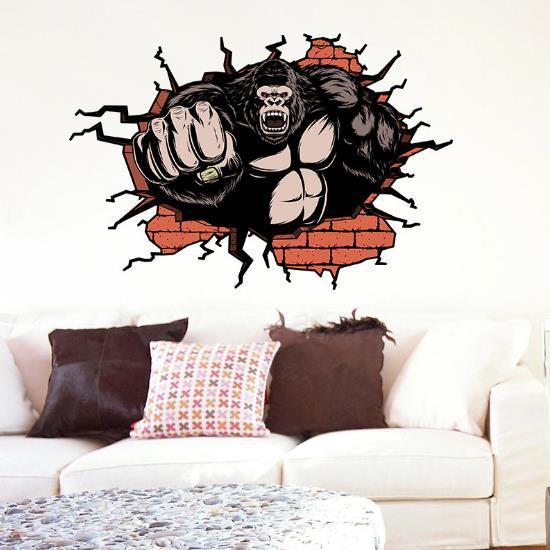 3d gorilla living room bedroom animals floor home background