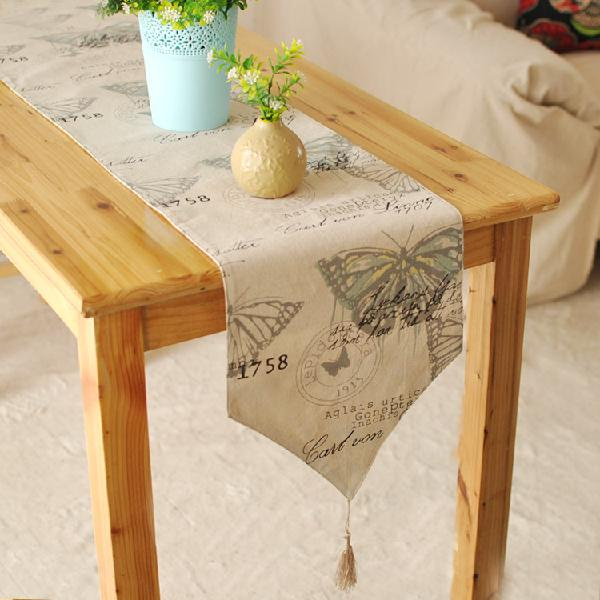 England style cotton linen tableware mat table runner