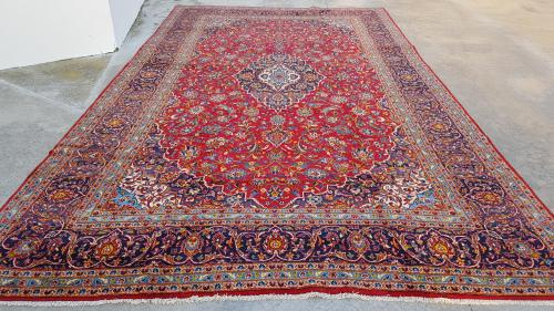 Extra large persian kashan carpet 523cm x 295cm hand knotted