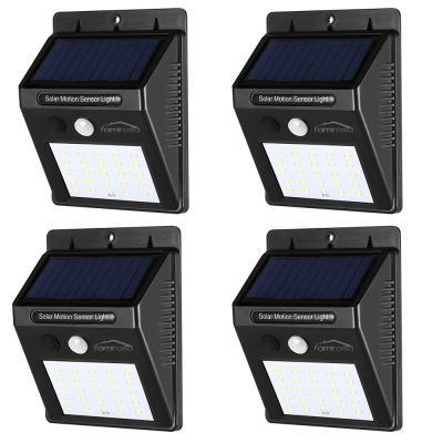 Famirosa 25-ledsolar motion sensor wall lamps 4pcs -