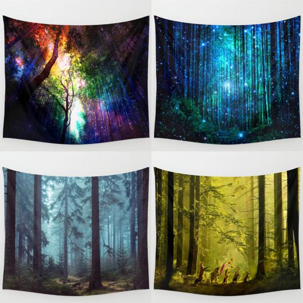 Forest tree indian tapestry beach towel bedspread blanket