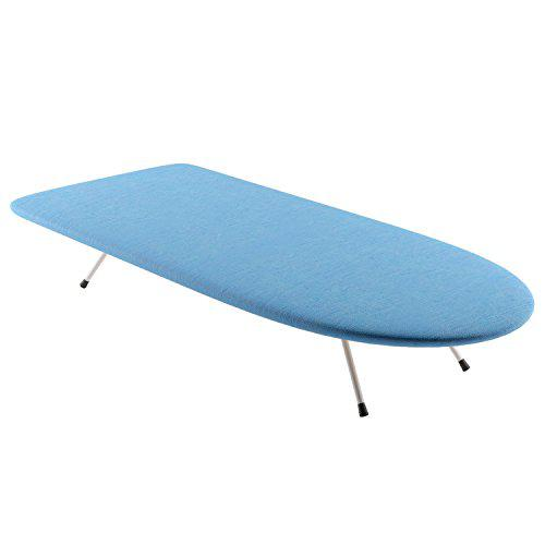 Home intuition wood tabletop ironing board with folding legs