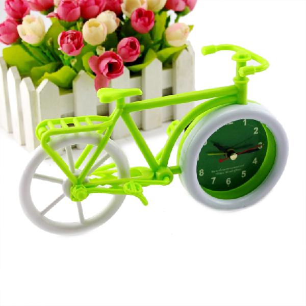 Honana pastoral style trumpet bike shape alarm clock for