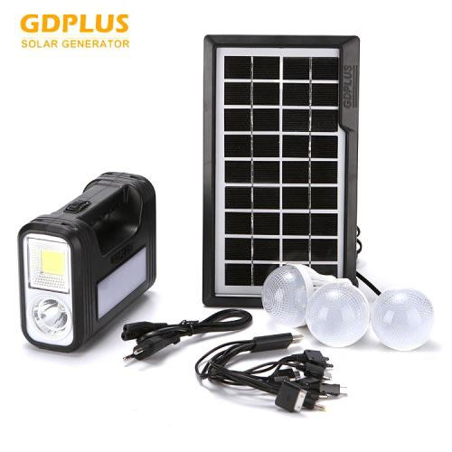 Portable solar charged light system 3 lamp solar cob