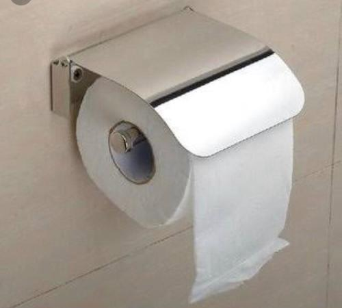 Stylish stainless steel toilet roll holder...never to be