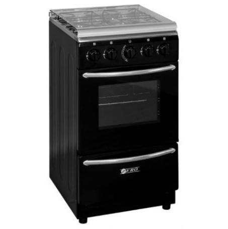 Zero Appliances 4 Burner Black Gas Stove