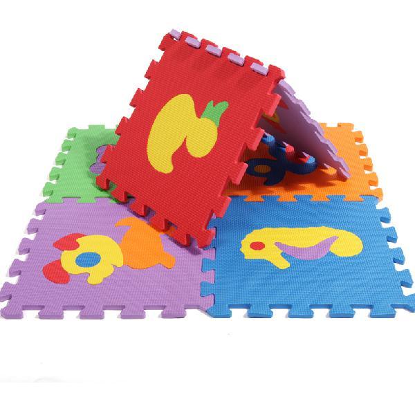 10pcs cartoon animal puzzle baby play mat