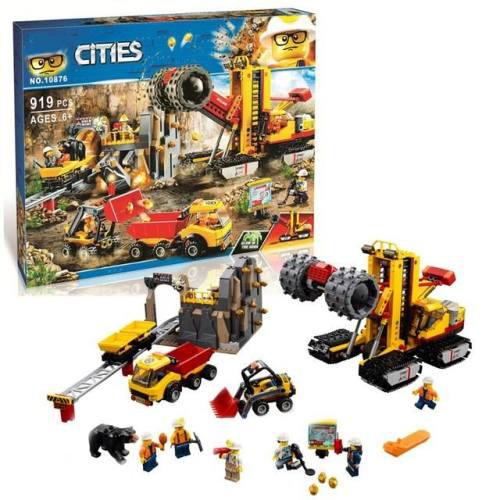 Bela compitable with legoe city mining experts power