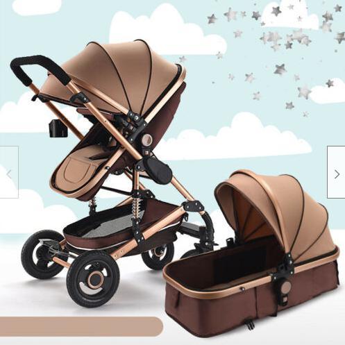 Baby pram /stroller - 2 function foldable baby pram (khaki)