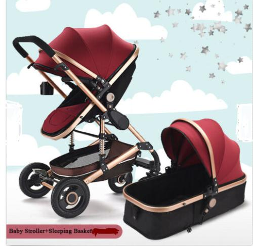 Baby pram /stroller - 2 function foldable baby pram maroon