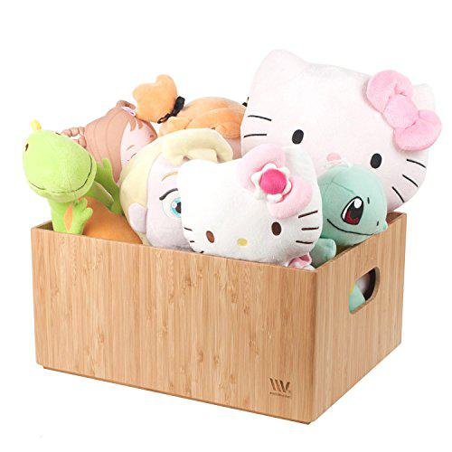 Bamboo storage bin tote for toys & nursery supplies durable