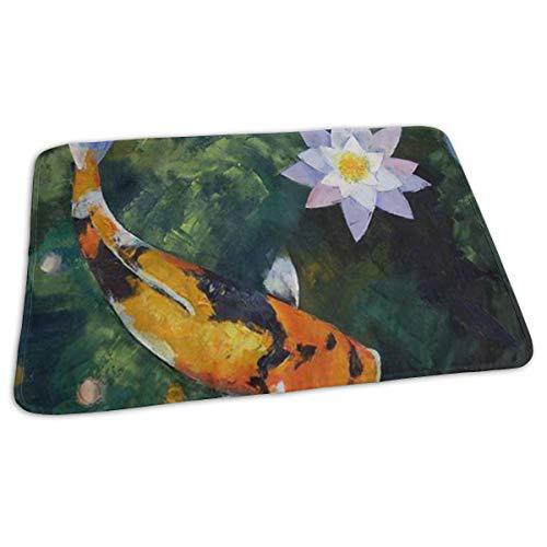 Changing pad showa koi and water lily baby diaper
