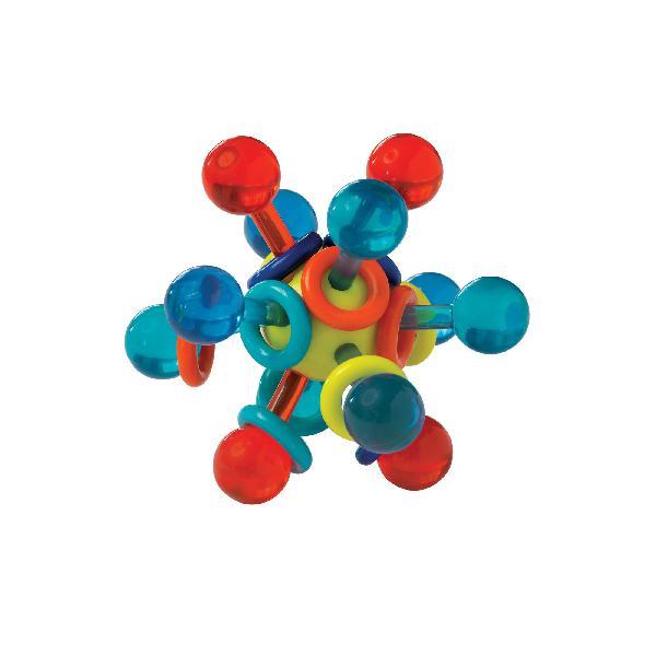Manhattan toy transparent atom teether & rattle baby toy