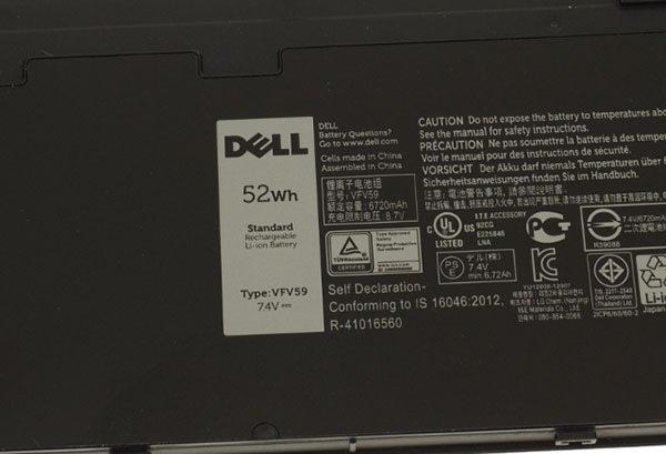 Bargain] genuine original dell battery, capacity 52wh, type
