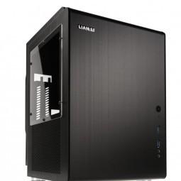 Lian li pc-q33wb mini tower desktop case with window (black)