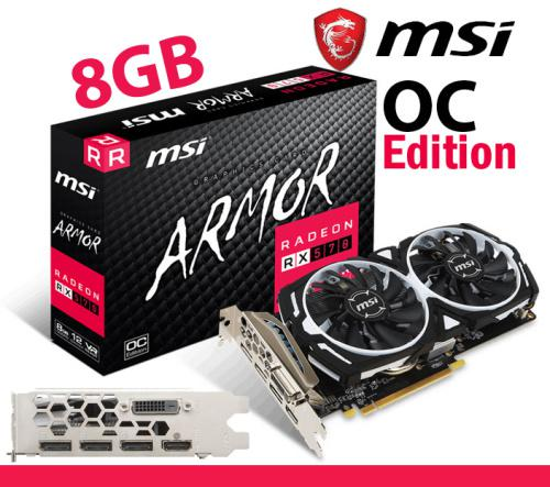 Msi radeon 8gb 570rx brand new sealed limited stock vr ready