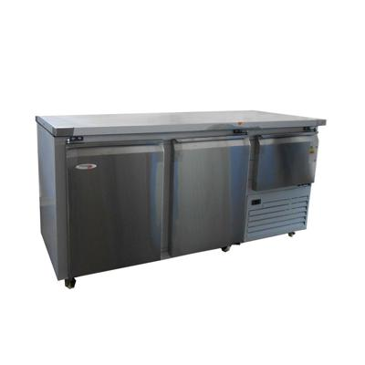 Stainless steel underbar fridge 2.5 door 610l eb1850ss