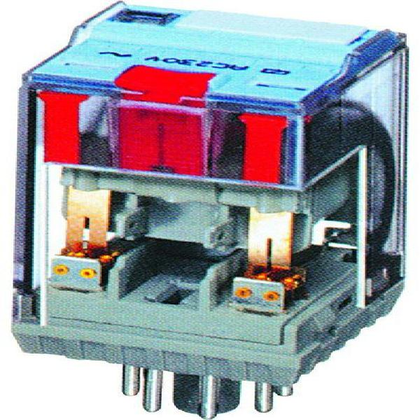 48vac 10a, relco 8 pin plug in relay with flag ind.