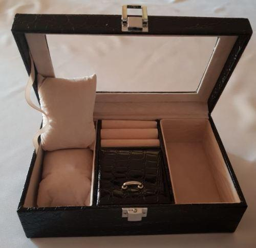 Jewelry cases box multi grids jewellery watches
