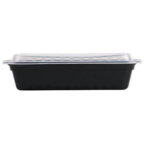 Meal prep food storage microwave plastic containers with
