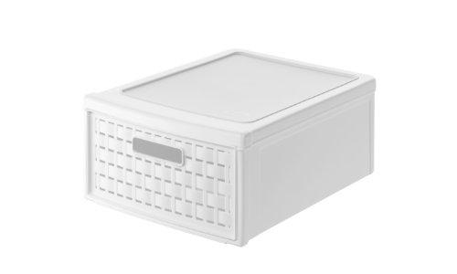 Rotho country storage drawer box small, white, 35 x 26 x