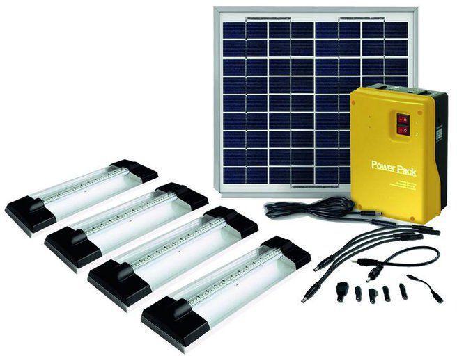 Solar light home kit 4 x 1.5w led light