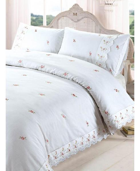 Sophie floral duvet cover and pillowcase set - white - king