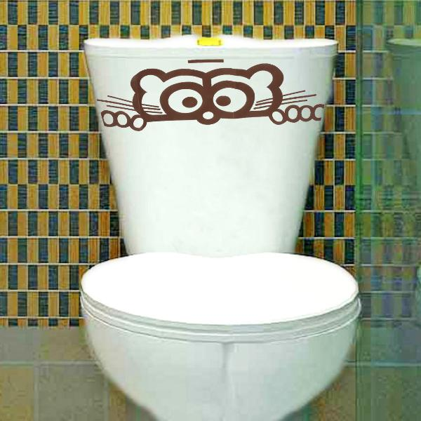 Wall sticker toilet peeping toilet seat decals wall decal