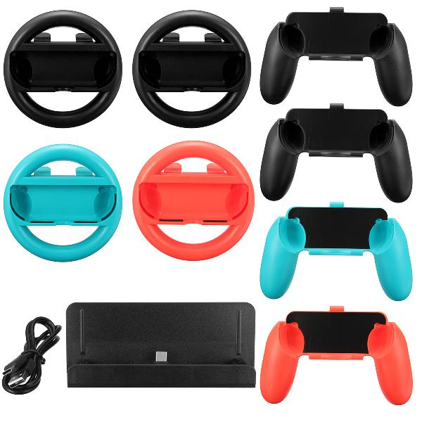 10 in 1 charging stand controller grip holder steering wheel