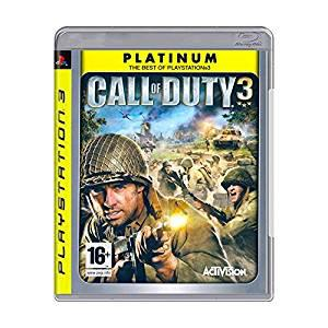 Call of duty 3 game, platinum (ps3)