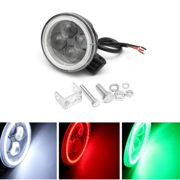 12v 180lm motorcycle projector 4 led headlight car auto fog