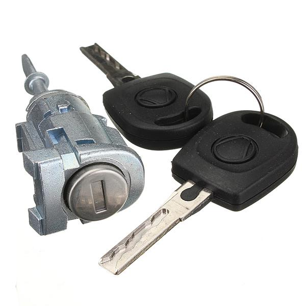 VW LUPO COMPLETE DOOR LOCK SET with 2 KEYS FRONT LEFT NSF PASSENGER SIDE