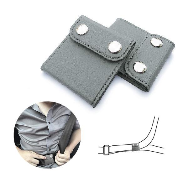 2pcs pu leather car seat belt adjuster positioner shoulder