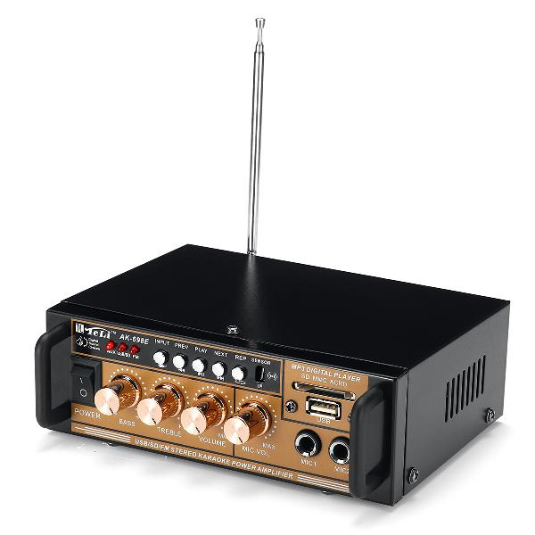 300w 12v/ 220v hifi amplifier audio stereo power fm radio