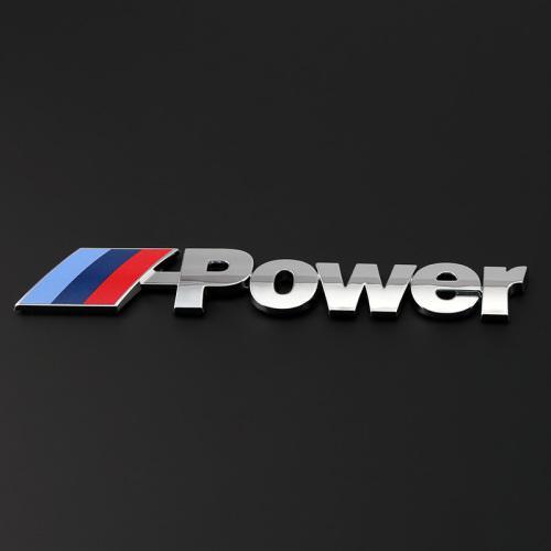 Bmw 'm power' motorsport 3d badge/decal/logo/emblem, high