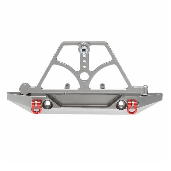 Cnc aluminum rear bumper silver for 1/10 axail scx10 rc