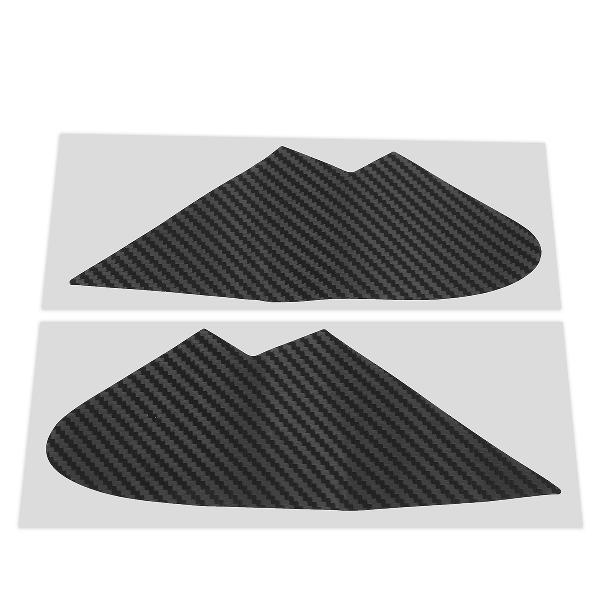 Pair 3d carbon fiber quarter window trim overlays car